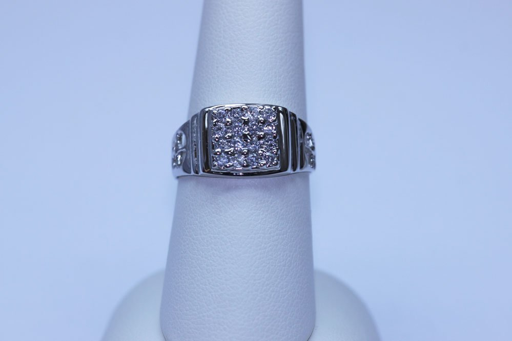 15.05 CTW CZ RING .925 STERLING SILVER