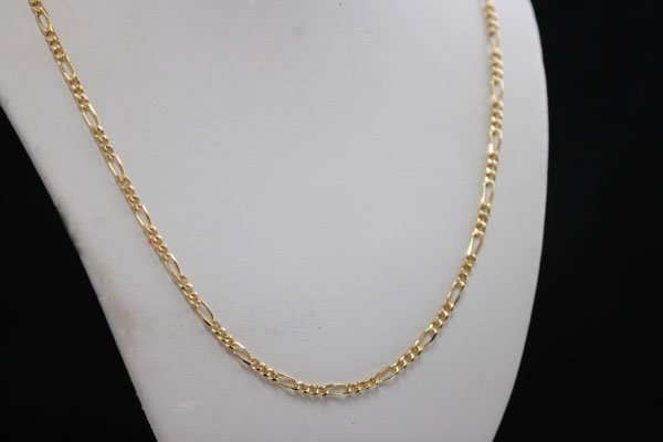 """14K GOLD PLATED FIGARO CHAIN 16"""""""
