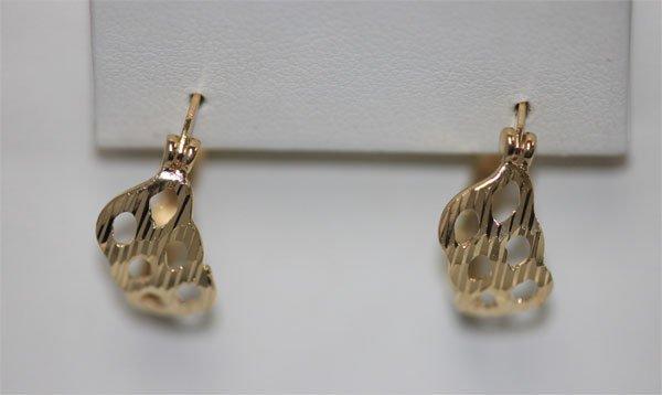 14K GOLD PLATED LOOP EARRINGS