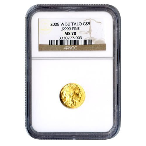Certified Uncirculated Gold Buffalo Tenth Ounce MS70 NG
