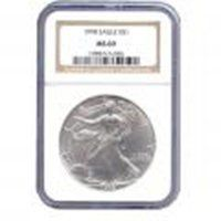 Certified Uncirculated Silver Eagle MS69 NGC (Date of o