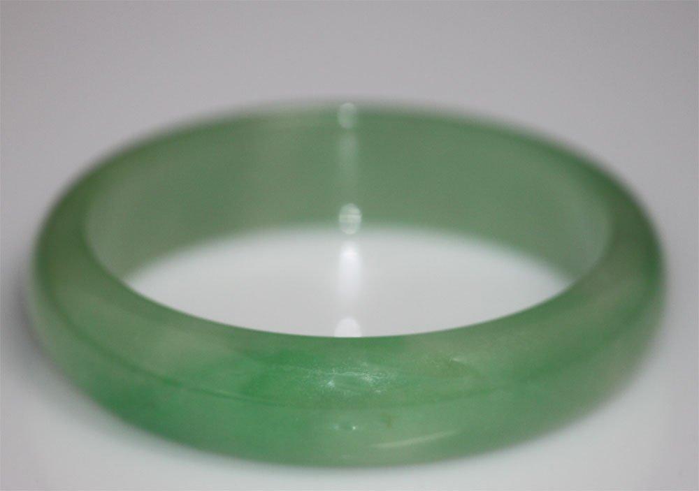 LIGHT GREEN JADE BANGLE