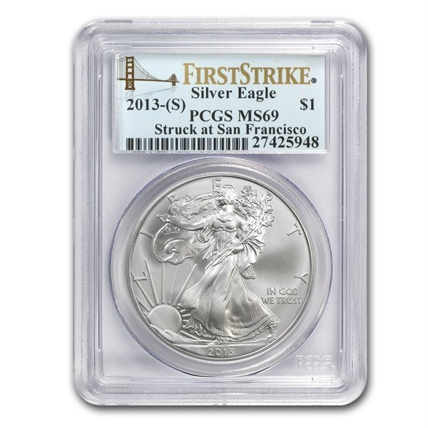 2013 (S) Silver American Eagle - MS-69 PCGS - First Str