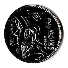 Silver Britannia One Ounce 2004
