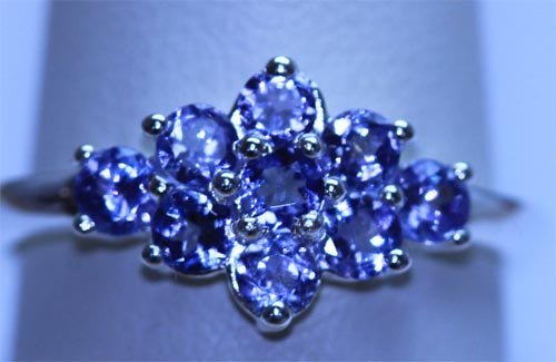 11.80 CTW TANZANITE RING .925 STERLING SILVER