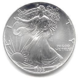 Uncirculated Silver Eagle 1995
