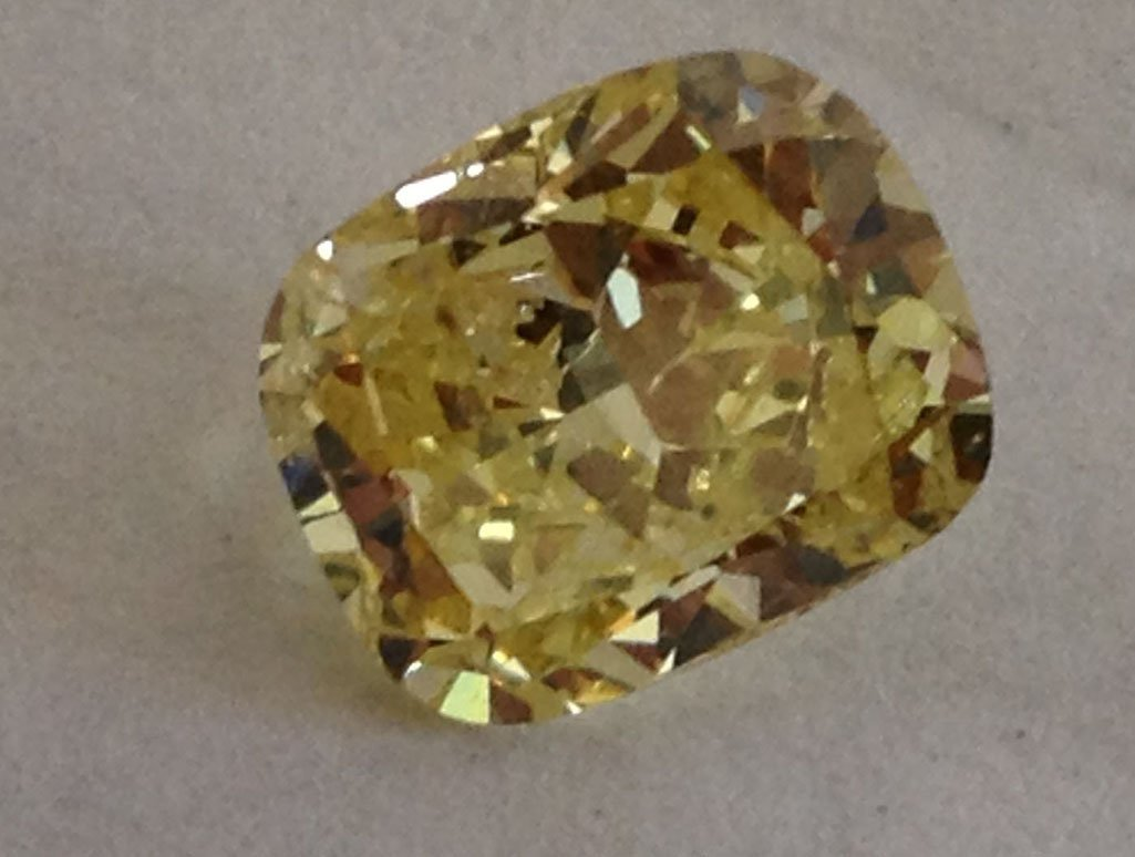 GIA CERT 1.53 CTW RADIANT DIAMOND YELLOW/FANCY LIGHT