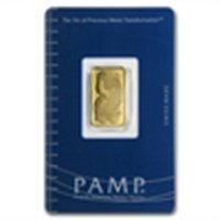 5 gram Pamp Suisse Gold Bar .9999 Fine (In Assay)