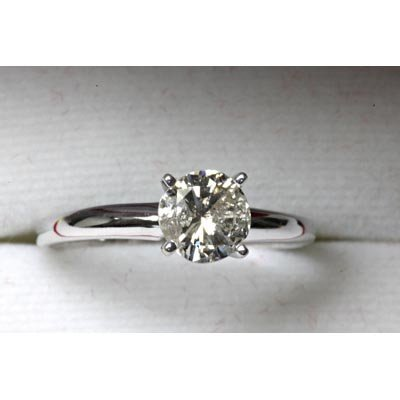 0.95ctw Diamond Solitaire Ring Color I to K, I1 to I2
