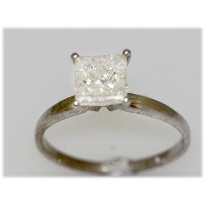 1.51 CTW 14K GOLD DIAMOND RING PRINCESS H/I1-I2
