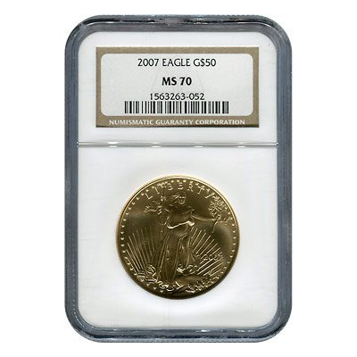 Certified American $50 Gold Eagle MS70 NGC (date of our