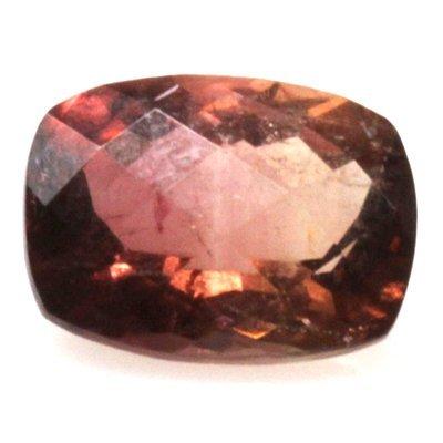 Natural 3.79ctw Bi-Color Tourmaline Cushion Stone
