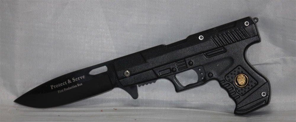 "POLICE GUN FOLDER 4.5"" ASSISTED OPENING"