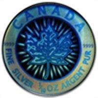 2003 1/10 oz Silver Canadian Maple Leaf - $2 (Hologram)