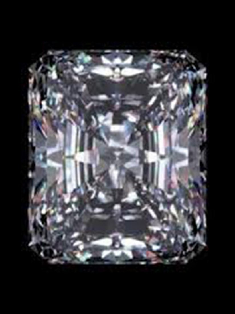 EGL CERT 0.57 CTW EMERALD CUT DIAMOND F/SI2