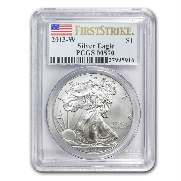 2013-W Burnished Silver Eagle - MS-70 PCGS - First Stri