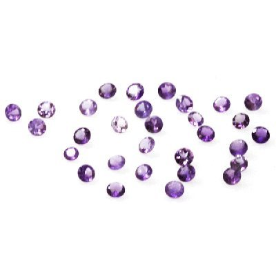 Natural 12.28ctw Amethyst Round Stone 4.5 to 8 (30)