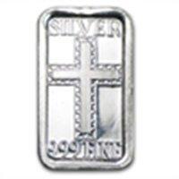 1 gram Cross Silver Bar (.999 Fine)