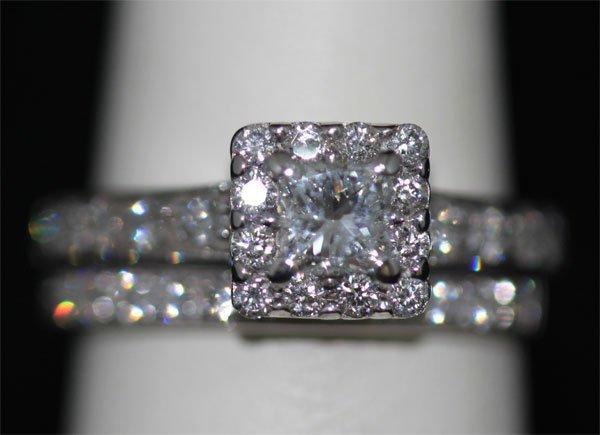 1.20 CTW 14K WHITE GOLD DIAMOND RING SET