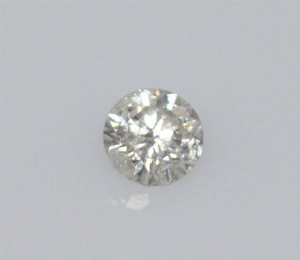 EGL CERT 0.53 CTW ROUND DIAMOND F/SI2