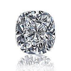 EGL CERT 1.07 CTW CUSHION DIAMOND D/SI1
