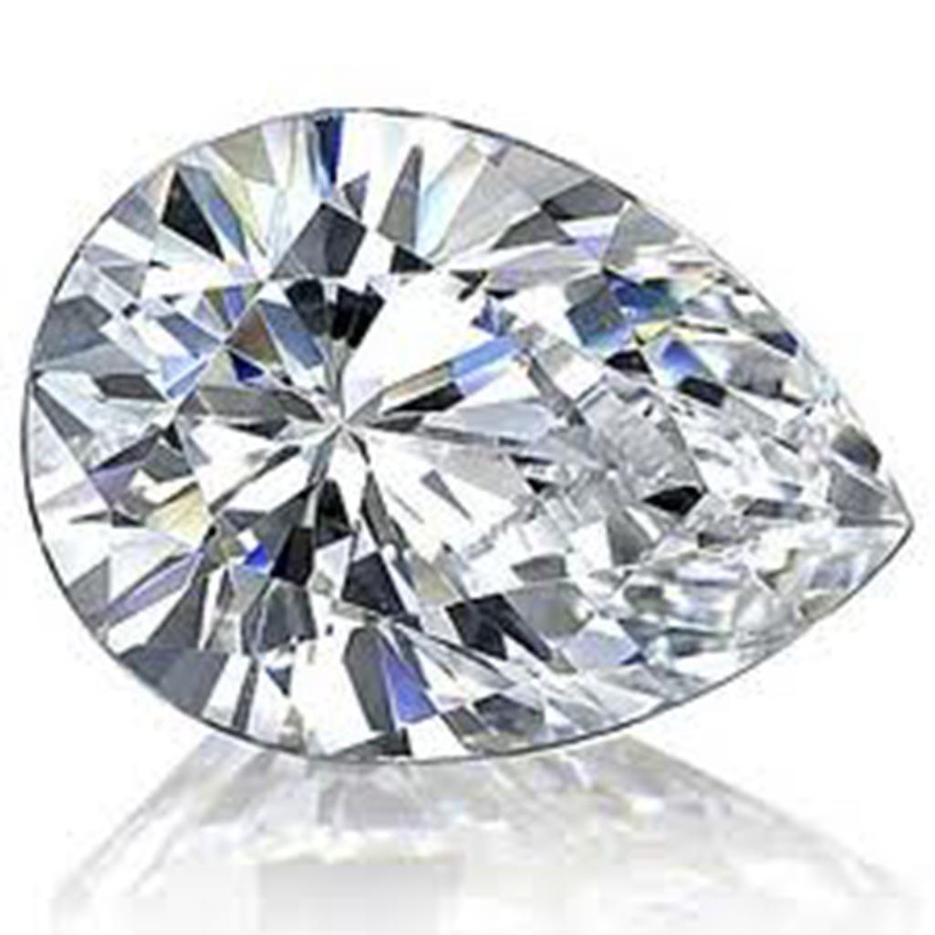 EGL CERT 0.51 CTW PEAR CUT DIAMOND E/SI2