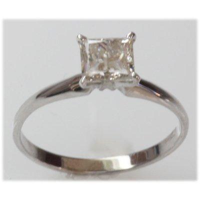 1.15 ct Diamond Princess Cut Ring J-K, SI3/I1