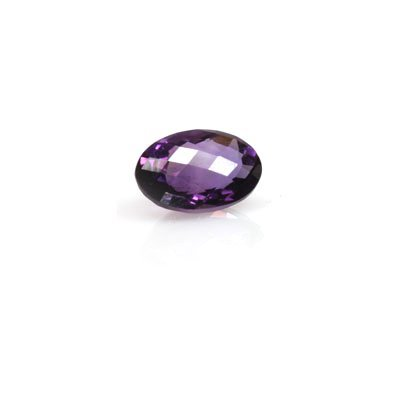Natural Amethyst 5.50 ctw Oval Checkered Cut