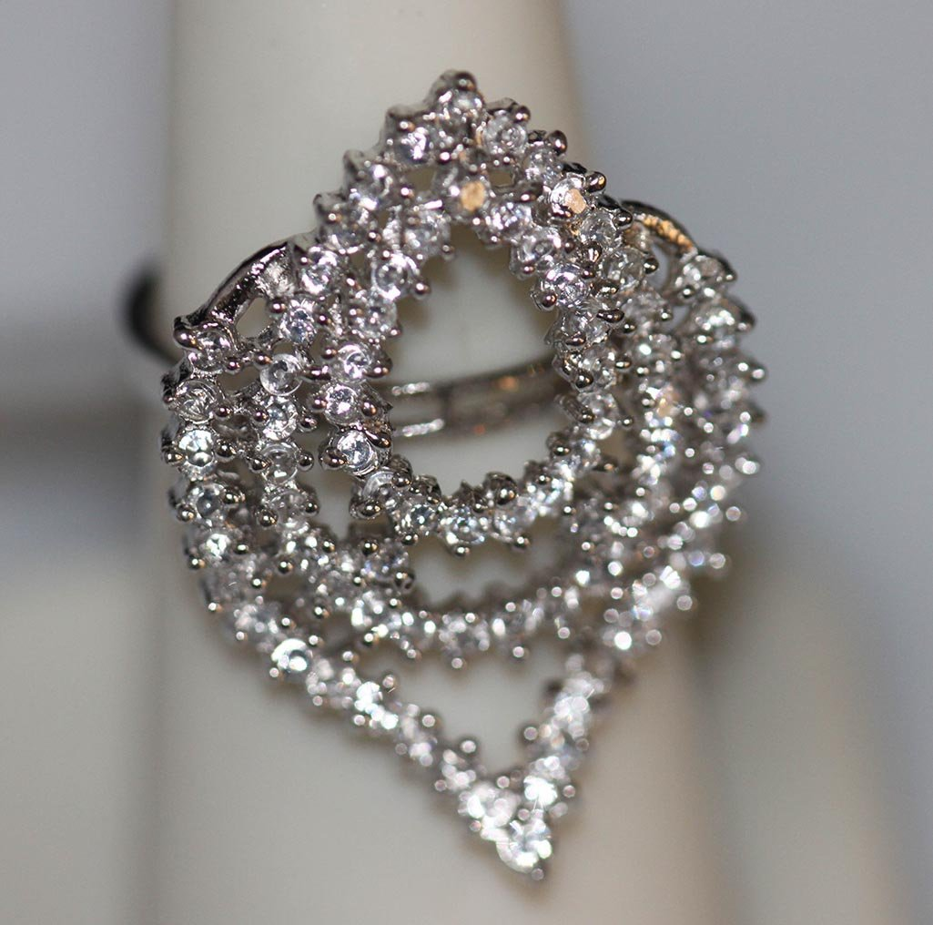 0.98 CTW CZ .925 STERLING SILVER RING