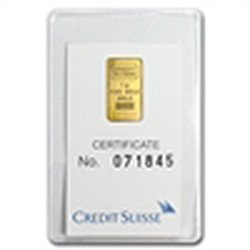 1 gram Statue of Liberty Credit Suisse Gold Bar In Assa