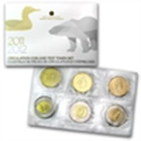 2011-2012 Canadian Circulation Coins and Test Tokens 6-