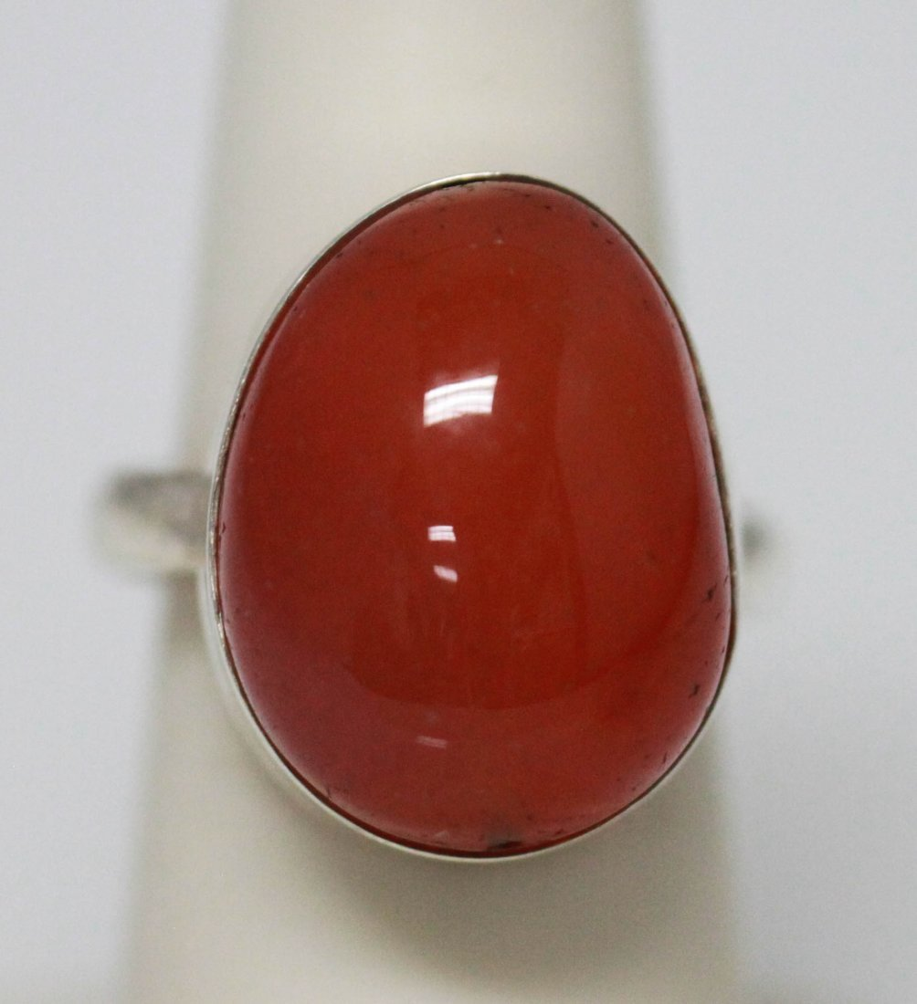 NATURAL 28.35 CTW SUSUNITE ROUND RING .925 STERLING SIL