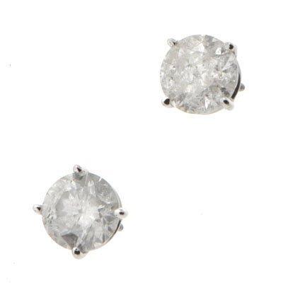 Genuine Diamond Stud Earring 3ctw Diamond Earring 14K