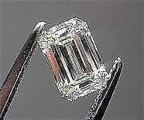GIA CERT 071 CTW EMERALD CUT DIAMOND HVS1