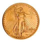 Early Gold Bullion 20 Saint Gaudens Extra Fine
