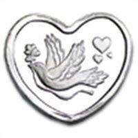 1/10 oz Silver Heart - Dove and Hearts (.999 Fine)