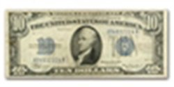 1934 $10.00 Silver Certificate (AG/Good)