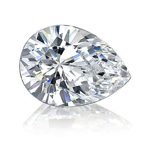 EGL CERT 1.12 CTW PEAR DIAMOND D/SI2
