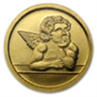 1/10 oz Cherub Fine Gold Angel Round .9999