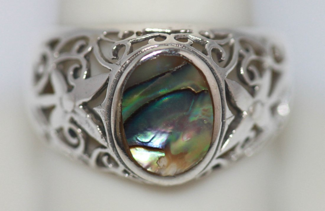 Multi color Ring .925 Sterling Silver