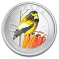 2012 Birds of Canada $0.25 Coloured - Golden Evening Gr