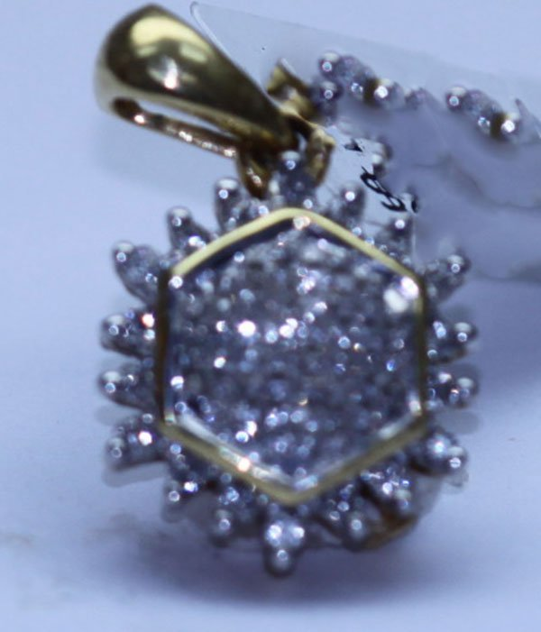 0.56 CTW DIAMOND PENDANT 18K YELLOW GOLD