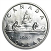 1957 Canadian Silver Dollar (Brilliant Uncirculated)