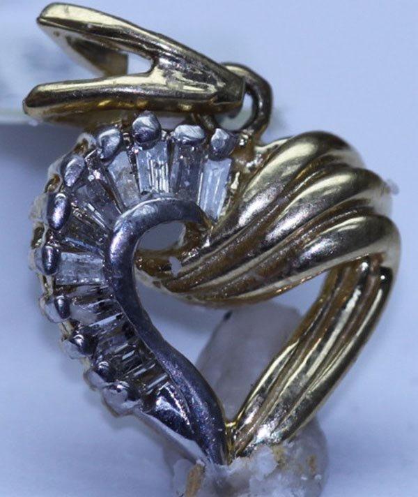 0.40 CTW DIAMOND PENDNAT 14K W/Y GOLD