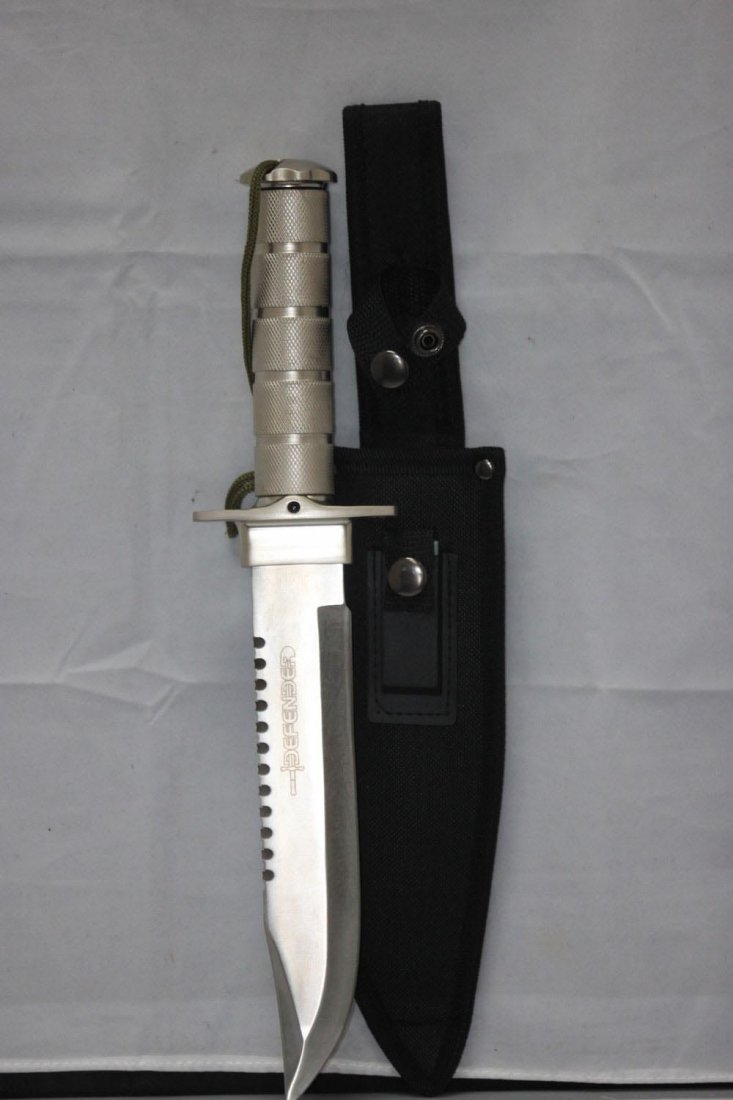 """COLLECTORS EDITION 14"""" SURVIVAL KNIFE HEAVY DUTY WITH S"""