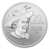 2012 1/4 oz Silver Canadian $20 Queen's Diamond Jubilee