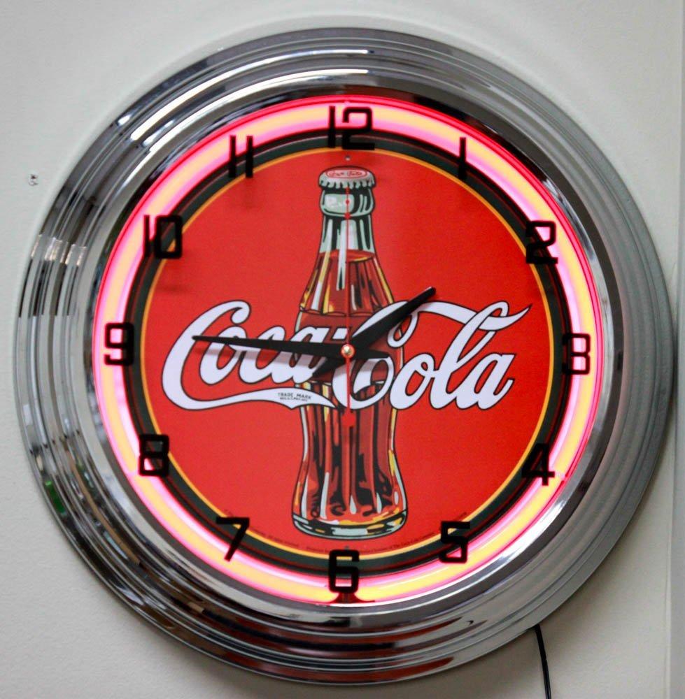 VINTAGE STYLE 17INCH NEON WALL CLOCK - COCA COLA 1930's