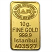 10 gram Istanbul Refinery Gold Bar .9999 Fine