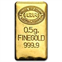 1/2 gram Gold Bar (Secondary Market) 999+ Fine