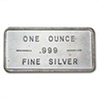 1 oz Bache Silver Bar .999 Fine